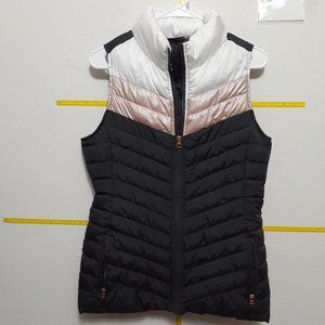 NWOT Maurices Rose Gold  Black Quilted Puffer Vest